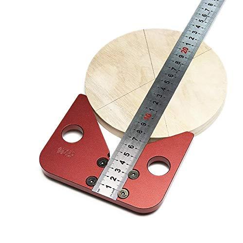 ToDIDAF - Herramienta de medición para centro de carpintería, 45 grados, buscador de centro de espiga, calibre de línea de ángulo, regla de marcación de línea de madera, regla de medición
