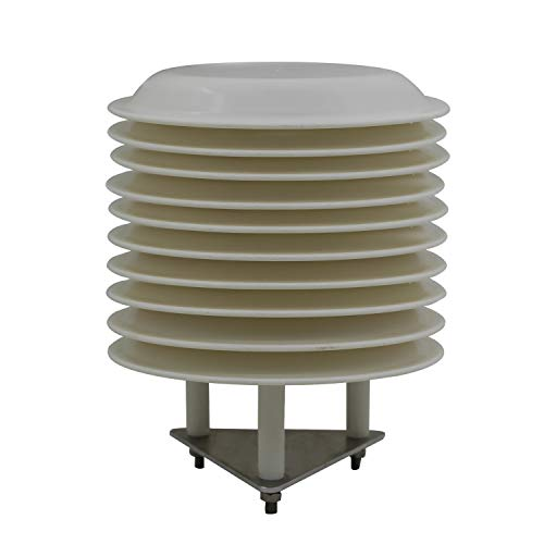 Otomatico Garita estacion meteorologica Φ138mm caseta estacion Base Centro meteorologico Exterior garita Temperatura diámetro Interno 79mm (10 Platos Diámetro Interno 79mm)
