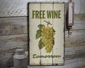Cartel de vino gratis, decoración de vino de uva, decoración de uva, decoración de bodega, decoración de cabaña de madera, decoración de madera