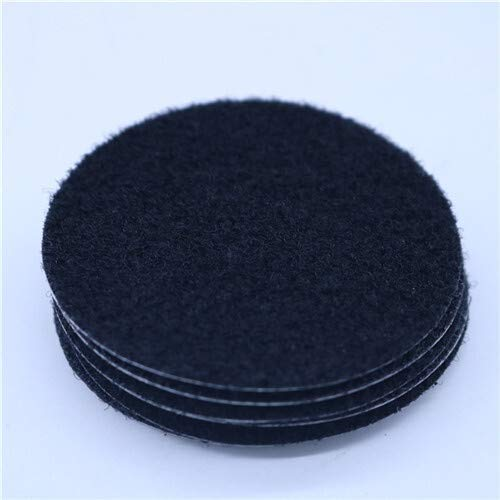 SHT 10 Paare Durchmesser 6 cm Runder Velcros Fest Bettwäsche Bettwäsche Sofa Mat Klettverschluss DIY Anti-Rutsch-Sicherheits Fixing Magic Tape (Color : Black)