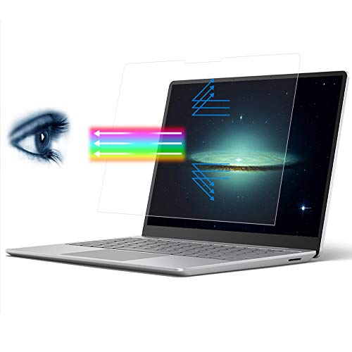 Anti-Blue Light Protector de pantalla para 12.4 pulgadas Microsoft Surface Laptop Go 2020 Pantalla táctil protectora Accesorios de la piel Anti-arañazos/Anti-huellas dactilares (Transparente)