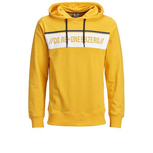Sudadera JACK & JONES amarilla con capucha