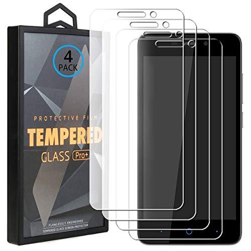 Ycloud 4 Pack Vidrio Templado Protector para ZTE Blade A452, [9H Dureza, Anti-Scratch] Transparente Screen Protector Cristal Templado para ZTE Blade A452