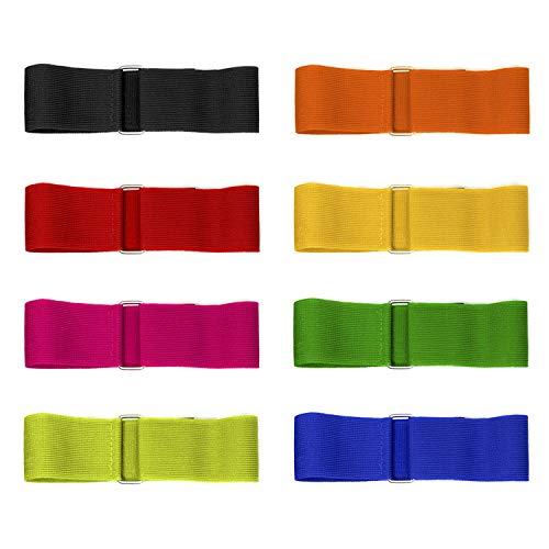 8 Colors 3 Legged Race Bands, Three Legged Race Durable Firm Elastic Tie Rope Colorful 3 Leg Race Band for Kids Adult Outdoor Fun