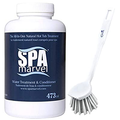 SPA Marvel Water Treatment & Conditioner for Hot Tubs, Spas, Cleaning, Pet Washing & more! - 16 Oz- Bundle with a Lumintrail Scrub