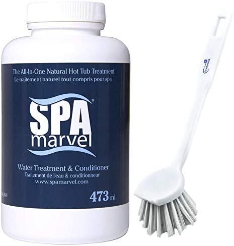 SPA Marvel Water Treatment Conditioner for Hot Tubs Spas Cleaning Pet Washing more 16 Oz Bundle product image