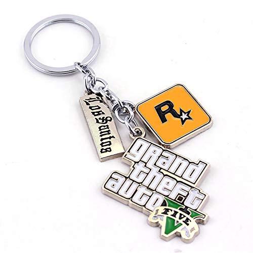 Gta V and Red Dead Redemption 2 Games Inspired – Collection porte-clés avec logo Games, orange (Logo principal Gta V), Medium