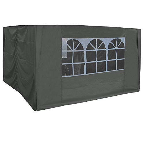 Greenbay 3x3m Pop Up Gazebo 4 Side Curtains Replacement Only Canopy Side Covers Anthracite