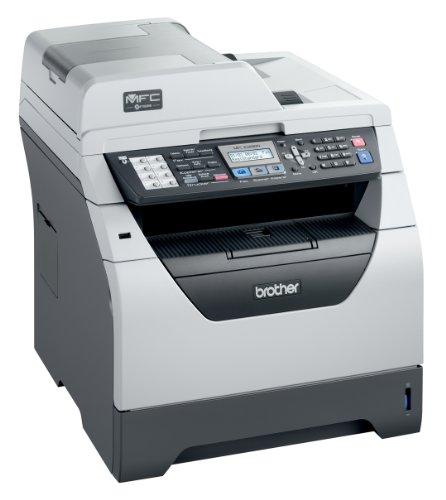 Brother MFC-8380DN Monolaser-Multifunktionsgerät (Scanner, Kopierer, Drucker, Fax) grau/weiß