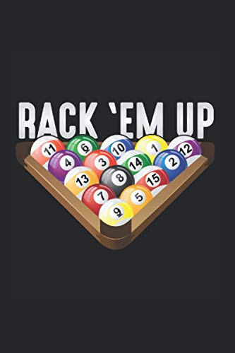 Rack: Billiards Player Rack em Up Eight Ball Pool Notebook 6x9 Inches 120 dotted pages for notes, drawings, formulas | Organizer writing book planner diary