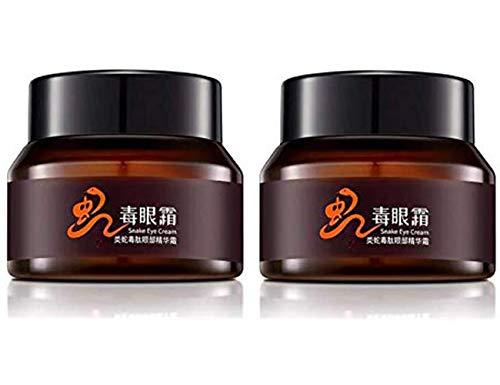 DHHSUK Crème hydratante au Venin de Serpent, restaurer la fermeté de la Peau et la crème élastique pour Les Yeux, Les Sacs Anti-âge (2pcs)