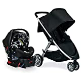 Britax B-Lively Travel System with B-Safe Ultra Infant Car Seat, Cowmooflage - Birth to 55 Pounds from Britax USA