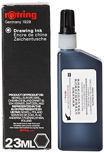 Rotring (S0194660) Isograph Inchiostro Liquido in Flacone, 23 ml, Nero