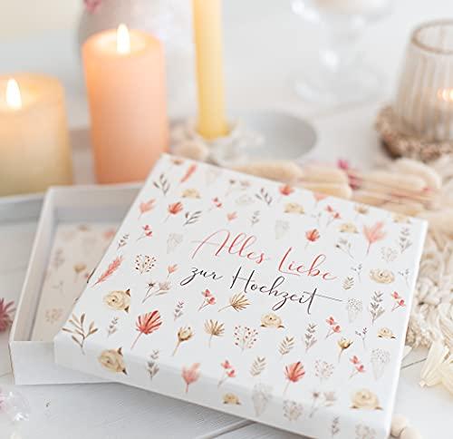 Geldgeschenk zur Hochzeit - Geldverpackung - Geschenk fürs Brautpaar Trockenblumen Liebe