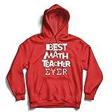 lepni.me Sweatshirt à Capuche Manches Longues Le Meilleur Professeur de mathématiques de Tous Les Temps Un Cadeau Unique pour Le tuteur en mathématiques (Large Rouge Multicolore)