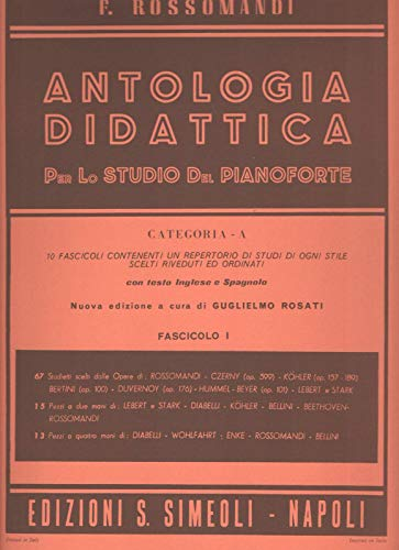 Antologia Didattica: Categoria A, Volume 1