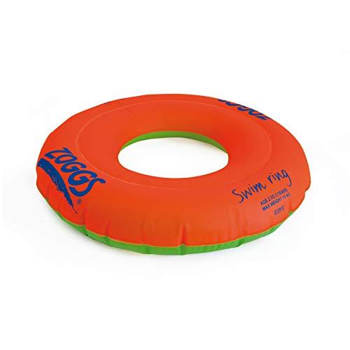 Zoggs Swim Ring flotadores para natación, Bebés Unisex, Naranja/Verde, 3-6 Años