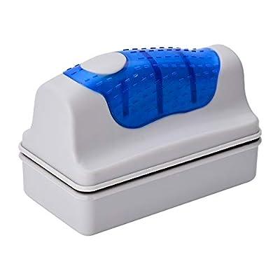 ENLESAITI Magnetic Aquarium Fish Tank Glass Cleaner Brush Floating Aquarium Magnet Cleaning Equipment For Aquatic Algae Cleaning Blue (M)