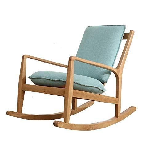 MZXUN Reclinables Silla Mecedora Diseño reclinables Silla ergonómica Diseño apoyabrazos (Color: Azul, tamaño: 100x62x87.5cm)