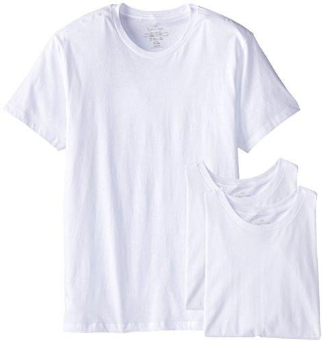 Calvin Klein Men's Cotton Classics Slim Fit Crew Neck T-Shirt, White (3 Pack), Medium