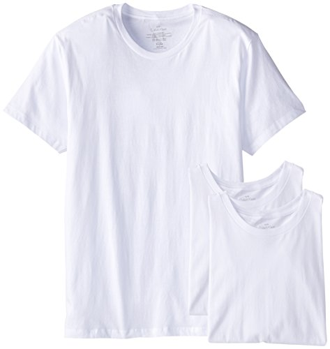 Calvin Klein Men's Cotton Classics Slim Fit Crew Neck T-Shirt, White (3 Pack), X-Large