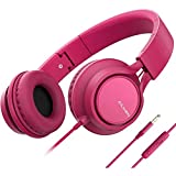 AILIHEN C8 (Upgraded) Headphones with Microphone and Volume Control Folding Lightweight 3.5mm Jack
