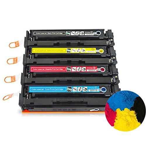 Cartuccia toner compatibile CF510A CF511A CF512A CF513A (1 nero 1 ciano, 1 magenta, 1 giallo) per stampanti laser HP Color Laserjet Pro M154a M154nw M180N M181FW, con nuovo chip non danneggia