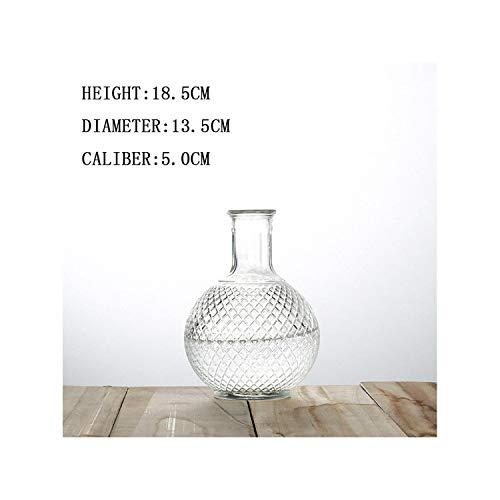 Lou Chapman Nordischen Stil Terrarium hydroponischen Pflanze Vasen Vintage Blumen-Topf Transparent Vasen Glas Tisch Pflanze Dekoration, Erde