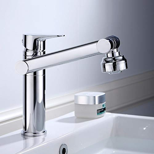 AXWT High End Brand Taps Bathroom Cold Heat Pullable Faucet Bathroom Basin Telescopic Lifting Rotate Vertical Water-tap Height 30 Cm Station Under Tap (Size : 300MM)