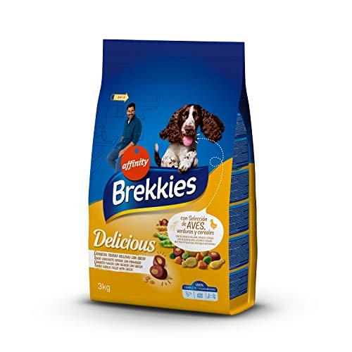 Brekkies Delicious Cibo per Cani con Selezione di Pollame, Ortaggi e Cereali - 3 kg - 3000 Gr