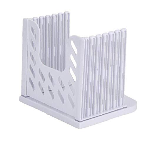 Folding Plastic Brood Slicer Brood Toast Snijden Gids Cutter Mes Die Snijden Brood Keuken Bakken Tool Wit