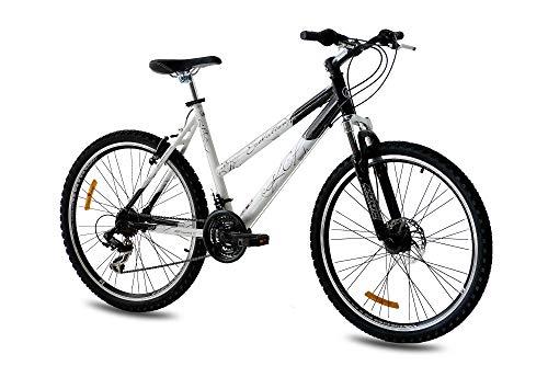 KCP 26 Zoll Mountainbike Hardtail - Evolution Lady - Mountain Bike mit 18 Gang Shimano Tourney Kettenschaltung - MTB Fahrrad mit Federgabel speziell für Damen entwickelt