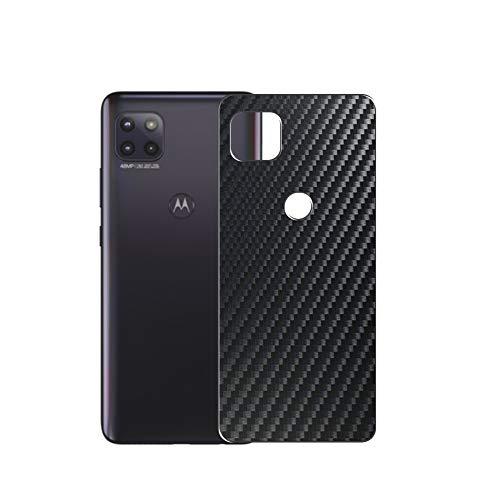 VacFun 2 Piezas Protector de pantalla Posterior, compatible con Motorola moto g 5G, Película de Trasera de Fibra de carbono negra