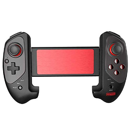 meixiang Bluetooth Gamepad, Gamecontroller, Drahtloser Teleskopgriff Rot