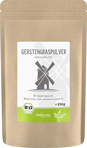 BIO Gerstengraspulver 250g | Gerstengras gemahlen | 100% naturrein | bioKontor