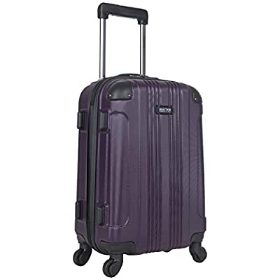 Kenneth Cole Reaction Out Of Bounds 20-Inch Carry-On Lightweight Durable Hardshell 4-Wheel Spinner Cabin Size Luggage, Deep Purple from Kenneth Cole Reaction