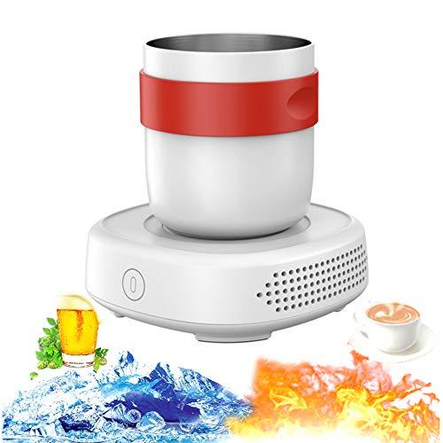 DORALO Mini Kühlschrank Elektronischer Flaschenkühler, Elektrische Heizung Oder Kühler, Getränkekühler-Kühlbehälter Für Büro-Schlafzimmer-Schule, Temperaturregelungsschutzfunktion, 450 Ml