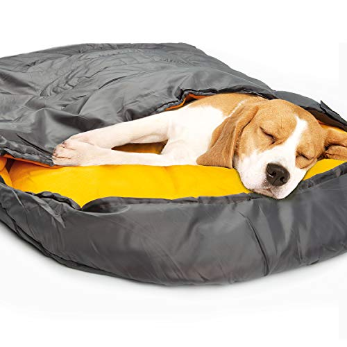 PetBOYA Dog Sleeping Bag Waterproof Warm Packable,Portable Dog Bed with Storage Bag,Suitable for...