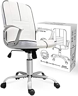 Smugchair Swivel Office Desk Chair Executive Bonded Leather Computer Chair, White