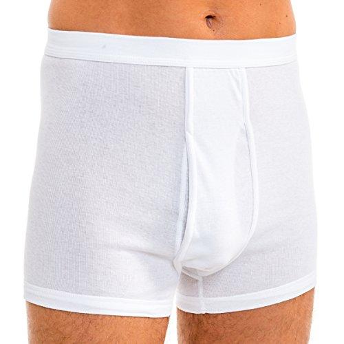 HERMKO 3940 4er Pack Herren Pagen mit Eingriff Schlüpfer und angeschnittenem Bein hoher Bund/Leib aus 100% Bio-Baumwolle, Größe:D 8 = EU XXL, Farbe:weiß