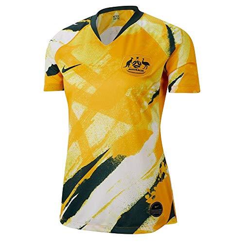 Nike 2019-2020 Australia Home Womens Football Soccer T-Shirt Jersey
