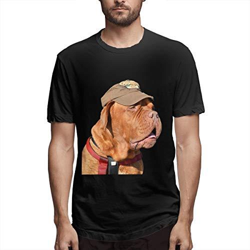 Dog Mens T-Shirt Sleeve Short Round Collar Fashion Adultblack 4XL