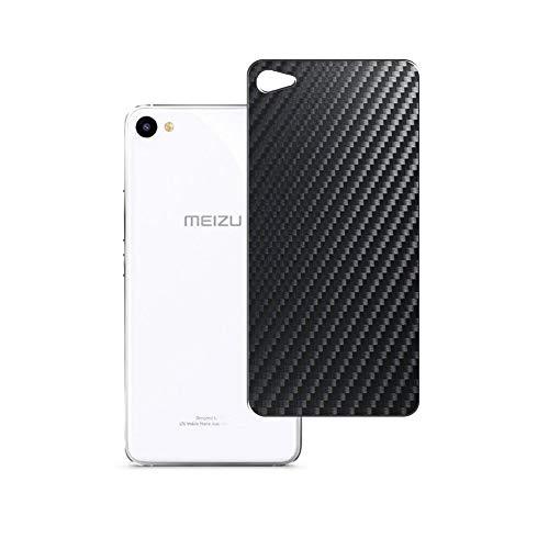 VacFun 2 Piezas Protector de pantalla Posterior, compatible con Meizu U10, Película de Trasera de Fibra de carbono negra