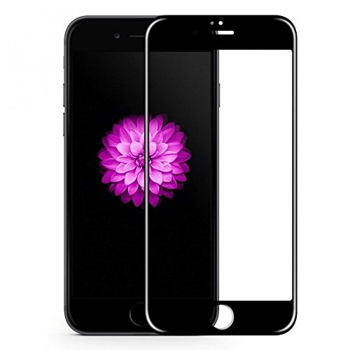 KC PRODUCTS 6D/11D Edge to Edge Tempered Glass Screen Protector for 9H Apple iPhone 8 with Installation kit (Black Color)