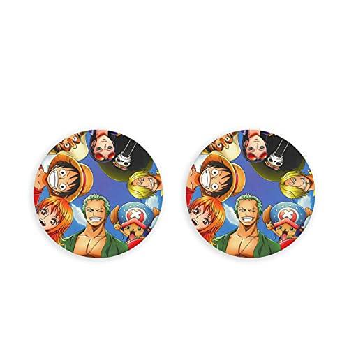 One Piece World Seeker Fridge Magnets Colorful Fridge Sticker Round Magnet Button Bottle Openers Set For Dishwasher Cabinet Kitchen 2 Piece