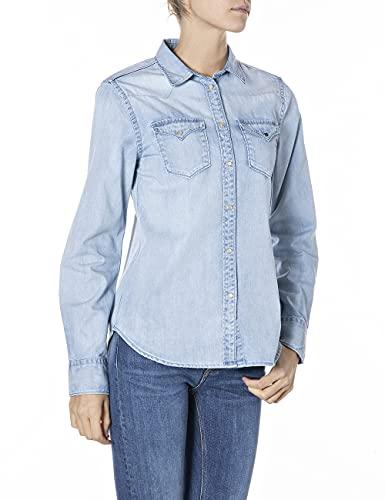 REPLAY W2001B.000.26C 97A Camisa, 010 Azul Claro, M para Mujer