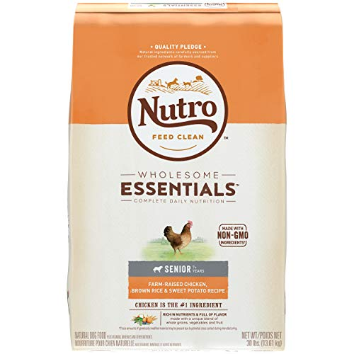 NUTRO WHOLESOME ESSENTIALS Natural Senior Dry Dog...
