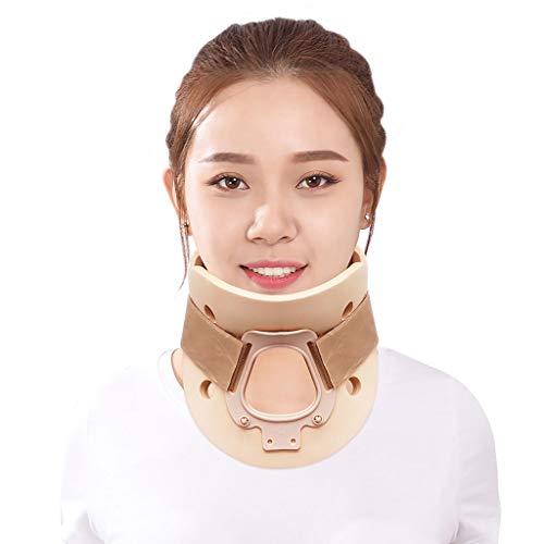 DONGBALA Halskrause, abnehmbare Halsstütze Zugvorrichtung Halskorrekturinstrument einstellbar Unisex,Flesh,L