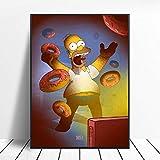 Puzzle 1000 piezas Simpson pintura dibujos animados amarillo lindo decoración imagen obra de arte puzzle 1000 piezas paisajes Rompecabezas de juguete de descompresión intelect50x75cm(20x30inch)