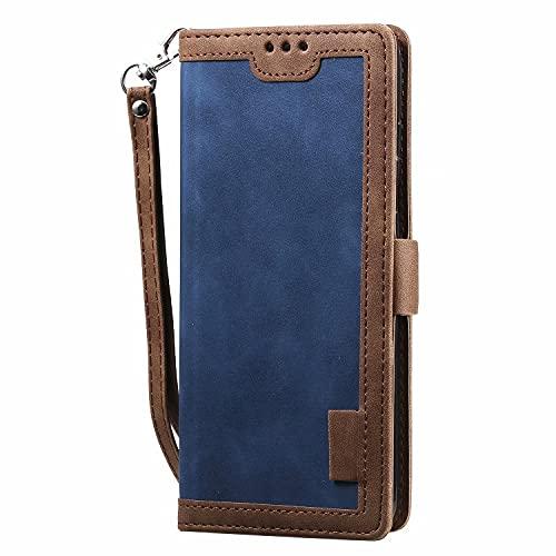 ESONG Funda para Huawei P Smart 2020 ,Suave PU Cuero Flip Carcasa Case Cover con Soporte/Tapa Tarjetas,Cubierta Magnética-Azul